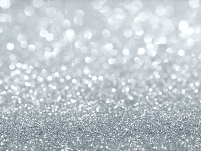 Image of Abstract silver defocused glitter background with copy space