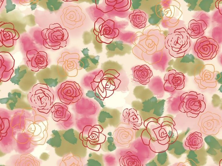 Image of Painted flowers background