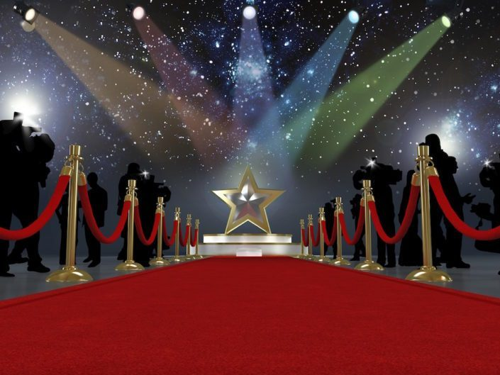 Image of Red carpet lights background